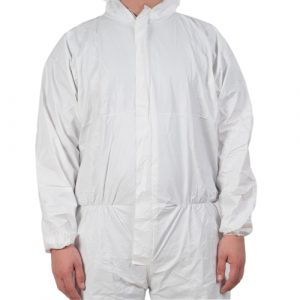 microporous fabric coverall