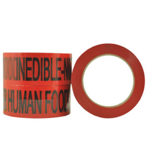 Inedible Not For Human Food OPP Acrylic Message Tape