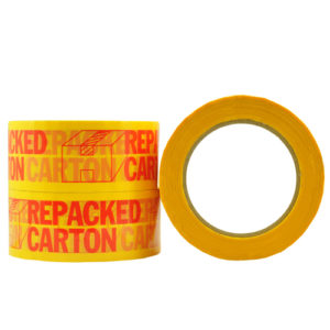 Repacked Carton Message Tape