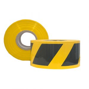 Black & Yellow Striped Barrier Tape